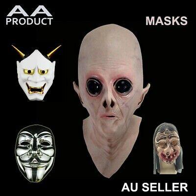 Anonymous Alien UFO Devil Demon Monster Scary Face Mask Halloween Party Cosplay