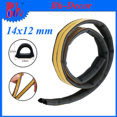 EPDM Foam Rubber Seal Weather Stripping Self Adhesive Door Window Repair 14x12mm
