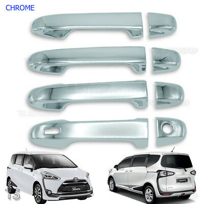 Door Handle Cover Chrome Trim 8 Pc For Toyota Sienta Xp170 2017 - 2018
