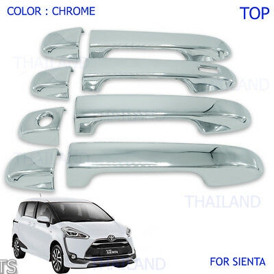 Door Handle Cover Chrome 8 Pc For Toyota Sienta Xp170 Top Model 2017 - 2018