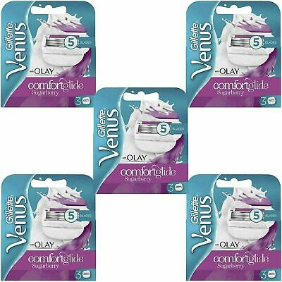 15 x Gillette Venus and Olay Sugarberry Scent Women's Replacement Razor Blades
