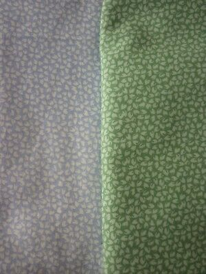 New Laura Ashley Green & Blue Sycamore (1993) BLUE L1.20, GREEN  L1.70 W 1.10