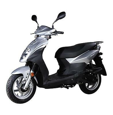 New Sym Symply 50cc II Moped 2017MY.....Silver £1398 OTR