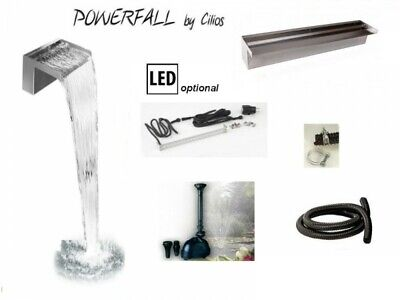 Powerfall Wasserfall Bausatz 60 LED bis ca. 1,50 m Fallhöhe, LED Leiste optional