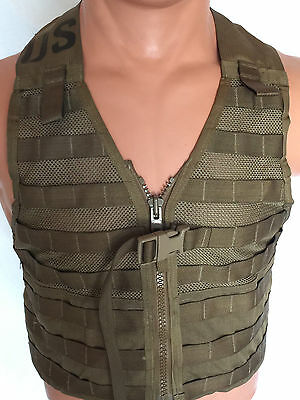 USMC MOLLE FLC Fighting Load Carrier Vest COYOTE Military Tactical LBV VERY GOOD