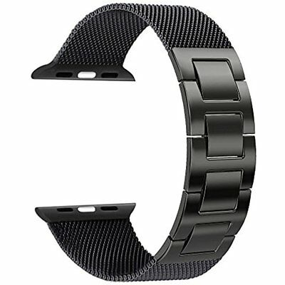 Apple Watch Band, Mesh Loop With Hand Removal Links Stainless Steel Milanese For