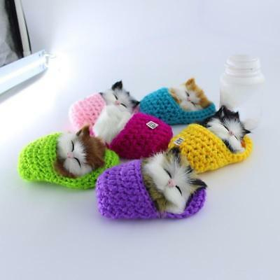 Lovely Cat Sound Toy Simulation Kittens Plush Toy Kid Appease Doll Birthday Gift