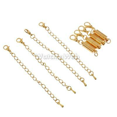 4pcs 6mm Magnetic Clasp And Extender Chain For Bracelet Necklace DIY Craft