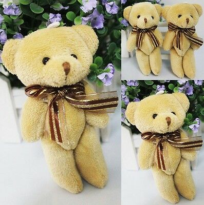 Lovely Plush Scarf Brown Teddy Bear Stuffed Animal Soft Toys 20CM For Kids Gifts