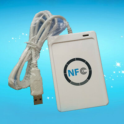 NEW USB ACR122U A9 NFC RFID Smart Card Reader Writer for All 4 Types of NFC UK