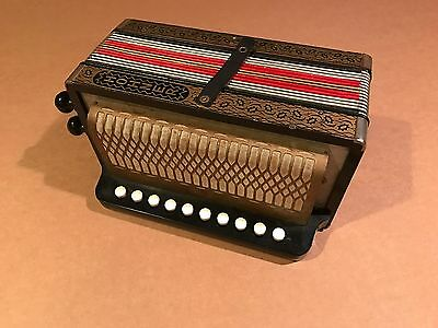 Vintage HOHNER Accordian Made in Germany 10 Buttons