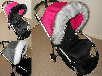 Faux fur Hood  trim for Bugaboo, Icandy,Quinny, Silver cross, Oyster / max
