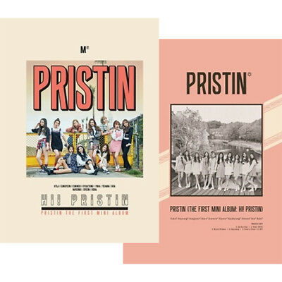 PRISTIN [HI! PRISTIN] 1st Mini Album CD+PhotoBook+4p Card+Sticker K-POP SEALED