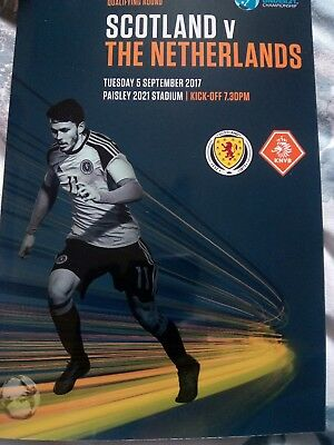 Scotland football programmes