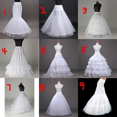 Bridal Petticoat Hoop Crinoline Underskirt Wedding Prom Dress Ball Gown Slips