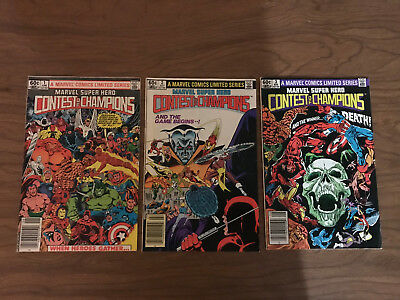 Marvel Contest Of Champions  Limited Series 1,2,3 Nice Condition!
