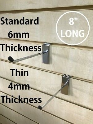 "Slatwall Pin Arms 8"" Hook Prong 25PCS Display Fitting Hanging Hooks Pack 200mm"