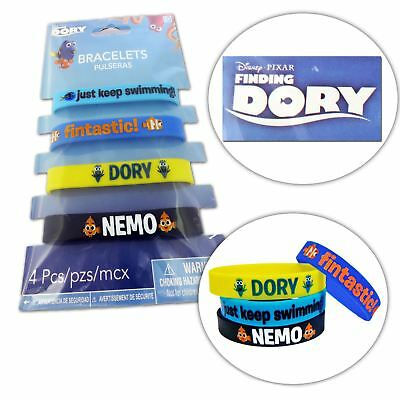 4pcs Kids Official Disney Pixar Finding Dory Wristbands Accessory Nemo Fish Cute