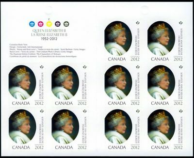 LQ. QUEEN Elizabeth ll Diamond Jubilee Booklet of 10 stamps Canada 2012 #2519a