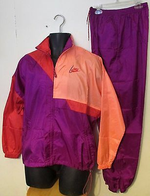 OLD SKOOL Vtg 90s NIKE Color NYLON Jogging TRACK SUIT Wind Breaker JACKET PANTS