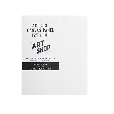 """Artists 100% Cotton Canvas Panel Painting Board for Oil & Acrylic in 12 x 10"""""""