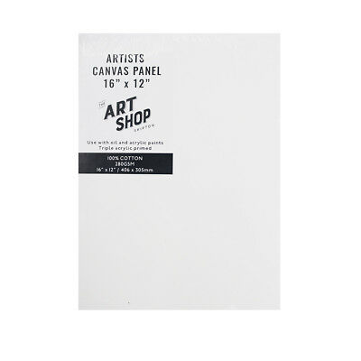 Artists 100% Cotton Canvas Panel Painting Board for Oil & Acrylic in 16 x 12""