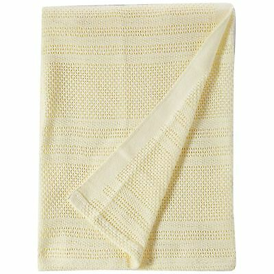 Junior Joy Cot 100% Soft Cotton Cellular Baby Blanket Breathable Safe Warm Cream