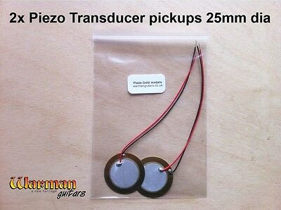 Piezo Transducer Pickups, acoustic, banjo, cigar box