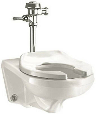 American Standard Afwall 1.1-1.6 Elongated, Wall Hung Toilet, White