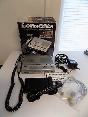 GE Microcassette Dictating & Transcribing System Office Edition Complete 3-5161