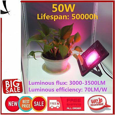 50W LED Grow Light Plant Lamp Plants Growing Bulb Hydroponic Aquatic Indoor LP