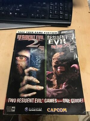 Resident Evil 2 3 Official Strategy Guide For GameCube Bradygames G