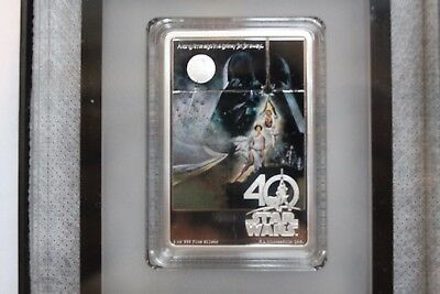 2017 Star Wars 40th Anniversary Poster coin and Empire Strikes Back Poster coin.