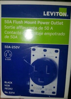 Leviton 50 amp Receptacle NEMA 6-50R 50A 250 volt 3 wire 1 phase Free Ship!