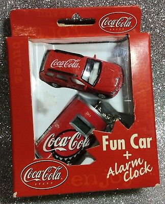 Coca Cola Macchinetta +Sveglia Portachiavi Fun Car + Alarm Clock Key Chain Bmw
