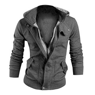 KD_ Men's Winter Slim Hoodie Warm Hooded Sweatshirt Coat Jacket Outwear Splend