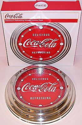 Vintage clock COCA COLA Delicious Refreshing dated 2010 in original box n-mint+