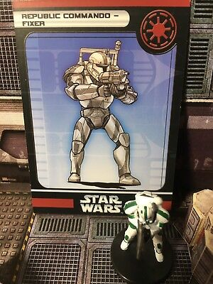 Star Wars Miniatures, Champions of the Force, #34 Republic Commando - Fixer, SW