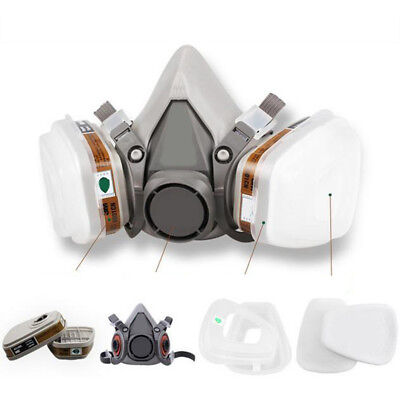 KD_ Set 7 in 1 6200 Gas half Face Mask Spray Painting Protection Respirator Qu