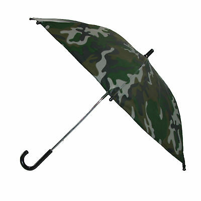 New CTM Kids' 34 Inch Dome Camo Print Hook Handle Umbrella