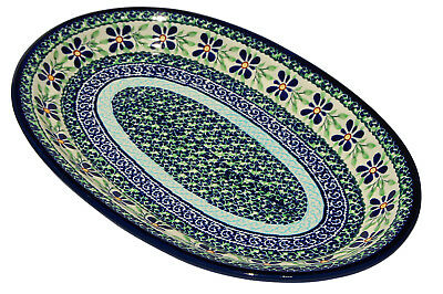 Polish Pottery Oval Platter From Zaklady Boleslawiec 1264/du121