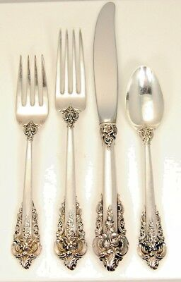 Lot #1 4Pc Wallace Grande Baroque Sterling Flatware Set No Reserve