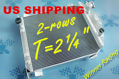 "T=2¼""  2x1""tubes Aluminum Radiator For Ford Model A W/FORD 302 V8 A/T 1928-1929"