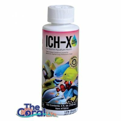 Hikari Saltwater Ich-X 4Oz Saltwater Aquarium Ich Treatment