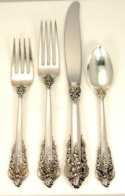 Lot #4 4Pc Wallace Grande Baroque Sterling Flatware Set No Reserve