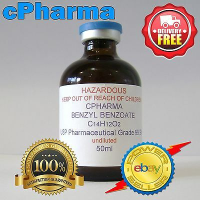 BENZYL BENZOATE USP 99.9% PHARMACEUTICAL GRADE 50ml ( UNDILUTED )