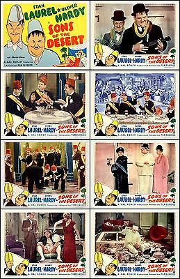 SONS OF THE DESERT LAUREL And HARDY Complete Set Of 8 Indiv 11x14 LC Prints R-44