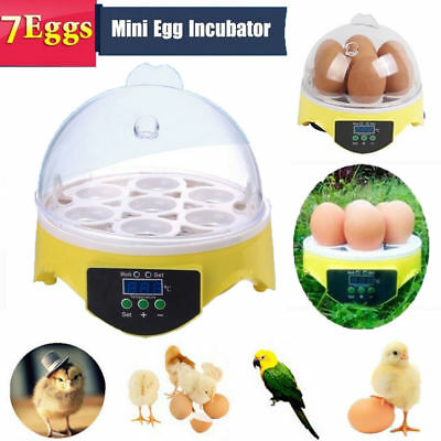 Chicken Duck Bird Egg Incubator Hatcher Househould Automatic Clear Digital Chick