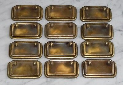 12 Vintage Rectangular Bail Knocker Brass Cabinet Door Drawer Pulls ~ 3 1/2inch