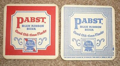 "50 Vintage Pabst Blue Ribbon Beer ""Good Old-time Flavor"" Drink Bar Coasters"